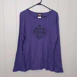 Harley Davidson Purple Long Sleeve Top